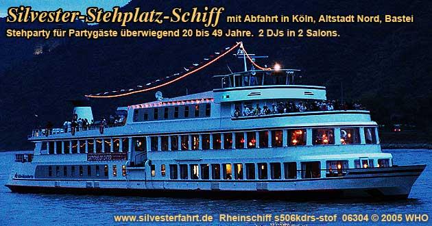 Köln Silvester 2021 Schiff